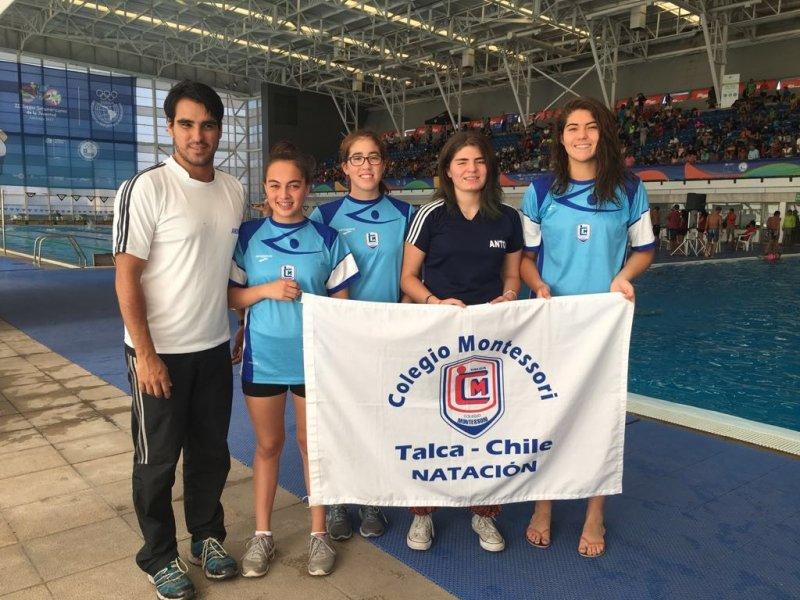 Nadadoras Club Montessori en Podio Nacional y Convocadas a Preselección Chilena
